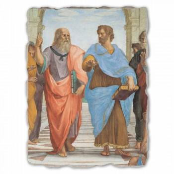 """Raffaello Sanzio """"School van Athene"""" deel. Plato en Artistotele"""