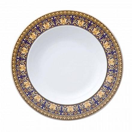 Rosenthal Versace Medusa Blue Plate modern ontwerp porselein bottom