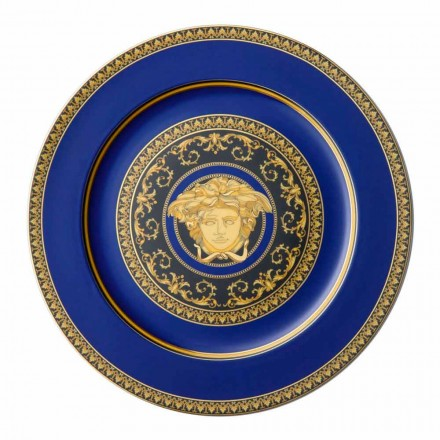 Rosenthal Versace Medusa Blue Plate porselein ontwerp placeholder