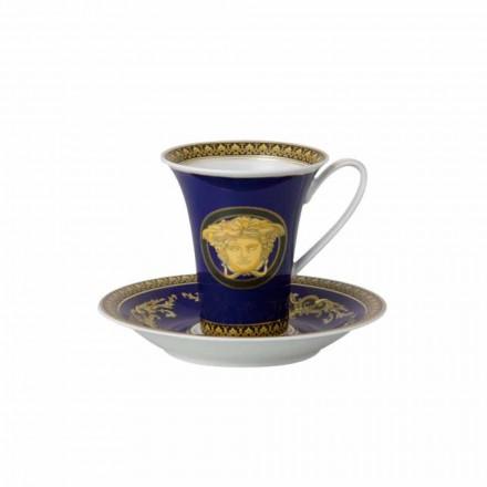 Rosenthal Versace Medusa Blauwe Kop hoge porseleinen ontwerp Coffee