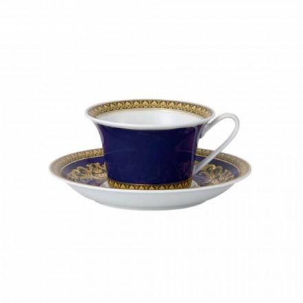Rosenthal Versace Medusa Blauwe Mok door modern design porselein thee