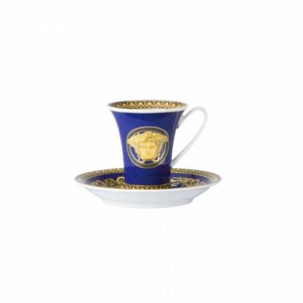 Rosenthal Versace Medusa Blauwe kop van designer koffie porselein