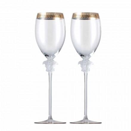 Rosenthal Versace Medusa D'Or 4 kopjes witte wijn glas