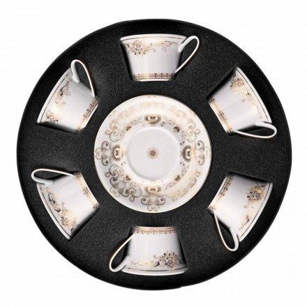 Rosenthal Versace Medusa Gala Cups Porselein Tea 6 stuks