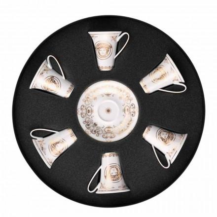 Rosenthal Versace Medusa Gala 6 september espressokopjes porselein