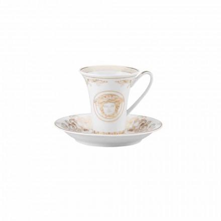 Rosenthal Versace Medusa Gala Cup Porcelain Ontwerp van de koffie