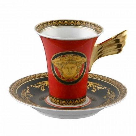 Rosenthal Versace Medusa Red Cup Coffee High Porcelain Ontwerp