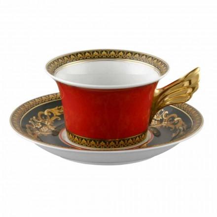 Rosenthal Versace Medusa Rode Kop modern ontwerp porselein thee