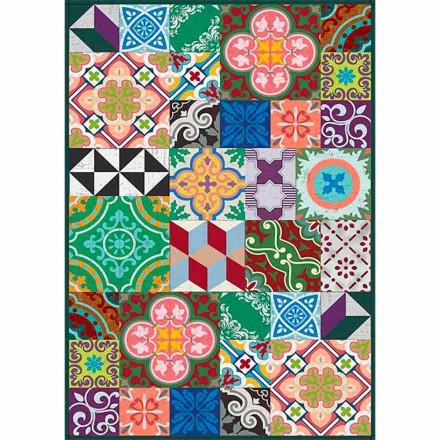 Kleurrijk design tafelloper in pvc en polyester met fantasie - Timio