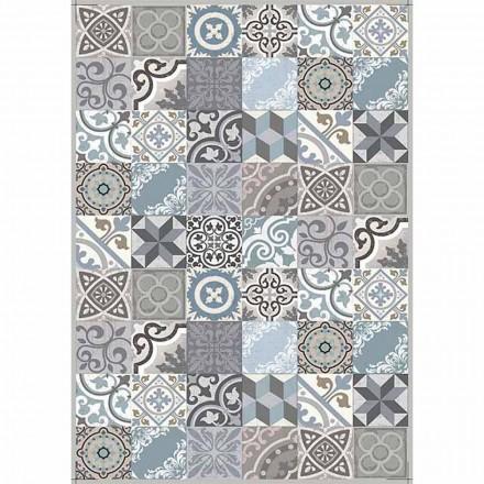 Modern design tafelloper in pvc en polyester patroon - Belita
