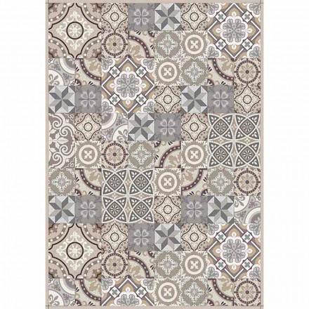 Tafelloper met patroon in pvc en modern polyester - Malia