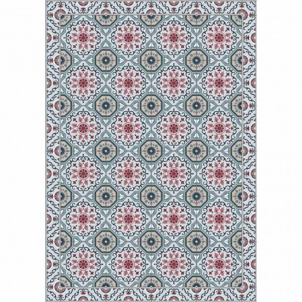 Gekleurde design tafelloper in pvc en polyester met fantasie - Meriva