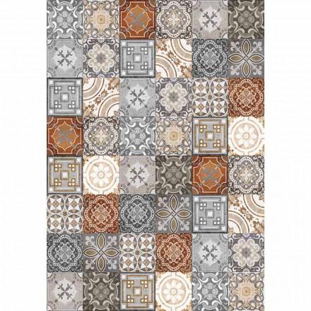 Vintage rechthoekig design tafelloper van pvc en polyester - Dimetra