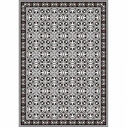 Tafelloper in pvc en polyester in zwart, blauw of grijs design - Lindia
