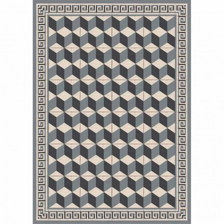 Tafelloper met patroon in pvc en modern polyester - Romio