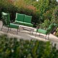Ambachtelijke buitenwoonkamer in ijzeren grafietafwerking Made in Italy - Lietta