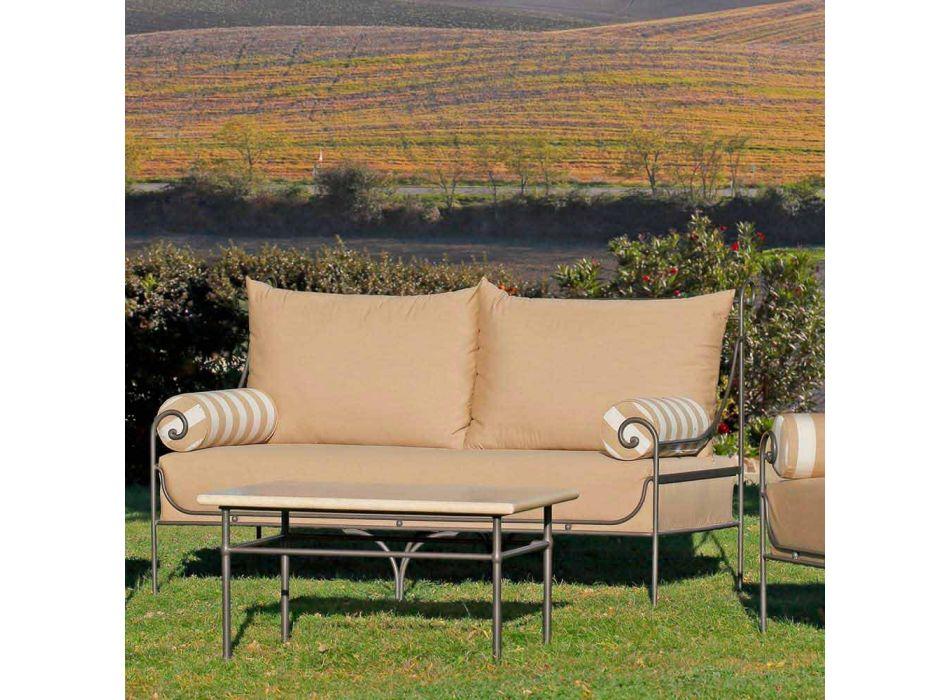 Artisan Garden Lounge met ijzeren structuur Made in Italy - Lisotto