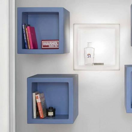 Cube gekleurde plank Slide Open Cube modern design gemaakt in Italië