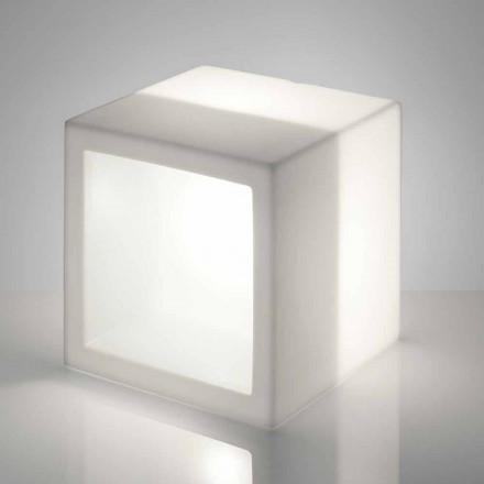 Cube lichtgevende plank Slide Open Cube modern design gemaakt in Italië