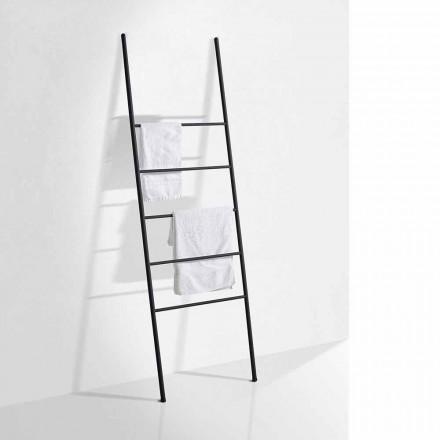 Modern design handdoekladder in wit of zwart metaal - Oppalà