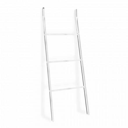 Handdoekhouder ladder in transparant plexiglas ontwerp 2 hoogtes - drogers