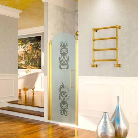 Elektrische handdoekwarmer Scirocco H Caterina goud in messing, ontwerp