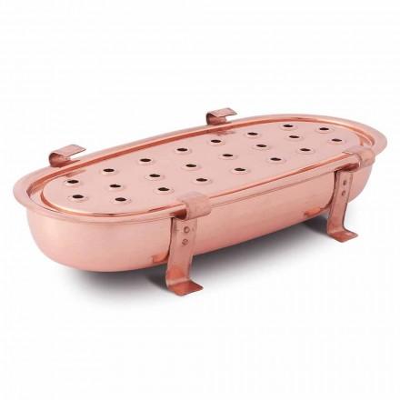 Chafing Dish voor koperen potten gemaakt in Italië 45x23 cm - Mariaelena