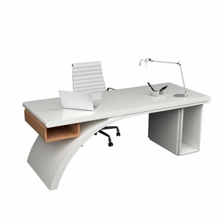 Bureau gemaakt van hout en Solid Surface Bridge, gemaakt in Italië