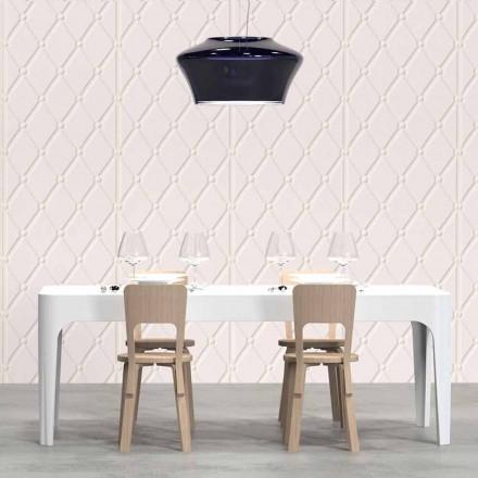 Rechthoekig bureau / eettafel, modern design, Merlot