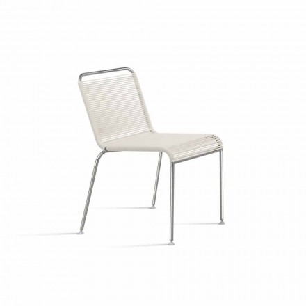 Designstoel voor buiten in staal en PVC Gemaakt in Italië - Madagaskar