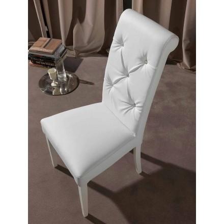 Klassieke stoel met getuft werken en diamanten - Diana
