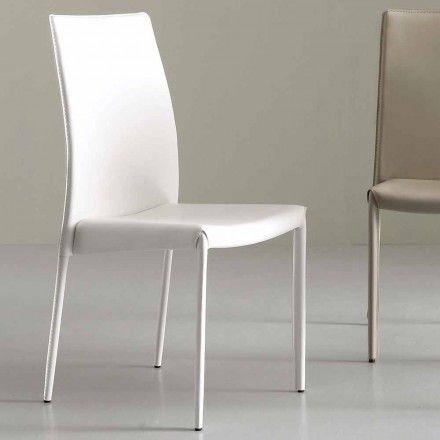 Moderne stoel volledig bekleed met kunstleer - Eloisa