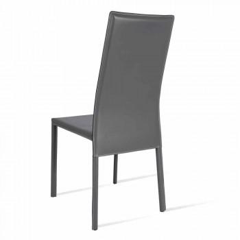 Becca moderne design stoel met hoge rugleuning, gemaakt in Italië