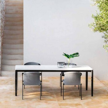 Buitenstoel met of zonder kussen, aluminium Design 3 afwerkingen - Filomena