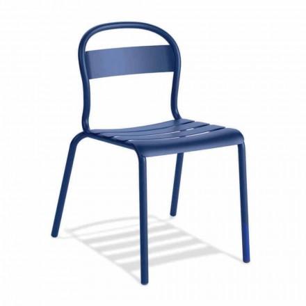 Stapelbare aluminium stoel voor buiten gemaakt in Italië, 4 stuks - Ulyssa