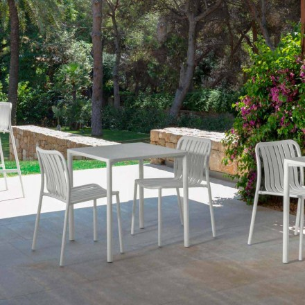 Trocadero moderne outdoor stapelbare stoel van Talenti, gemaakt met aluminium