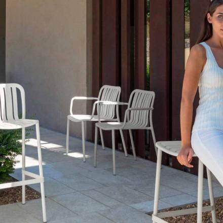 Trocadero tuinstoel met armleuningen van Talenti, gemaakt met aluminium
