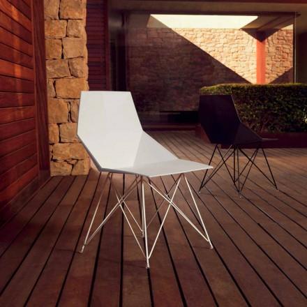 Moderne stoel Faz collectie Vondom, polypropyleen en roestvrij staal