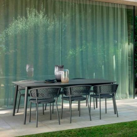 Moon Alu tuinstoel van Talenti, met aluminium en synthetisch koord