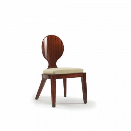 gewatteerde ontwerp dineren stoel in hout glad, L51xP53cm, Nicole