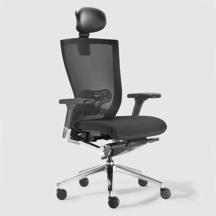 Ergonomische bureaustoel met stoffen en kunstleer wielen - Takeshi