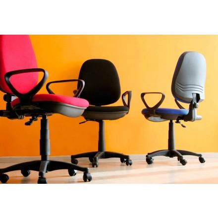 Ergonomische roterende bureaustoel met armleuningen in weefsel - Concetta