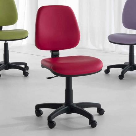 Roterende en ergonomische bureaustoel in weefsel en ecologisch leer - Danila