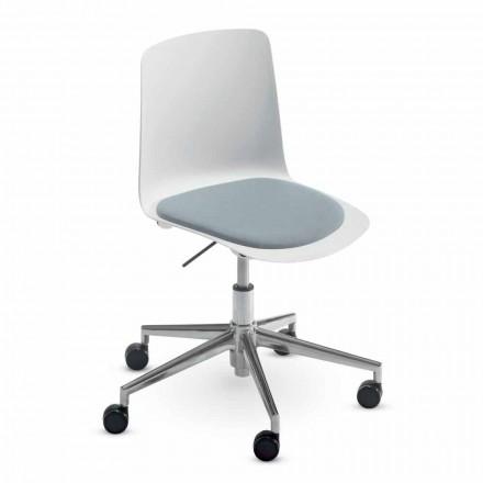 Bureaustoel in aluminium en polypropyleen gemaakt in Italië, 2 stuks - Charita