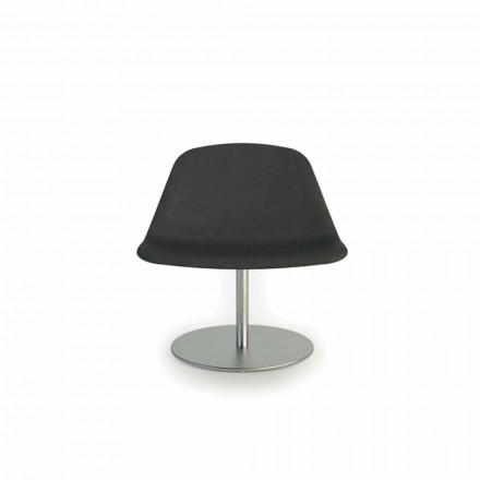 Moderne stoel met ronde basis Llounge door Luxy, made in Italy