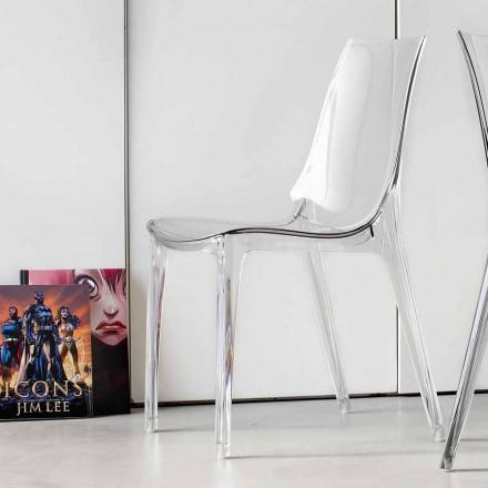 Moderne designstoel, volledig in polycarbonaat - Gilda