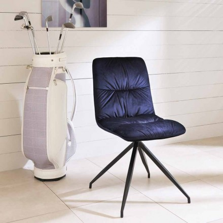 Chair modern design bekleed met stof Chiara
