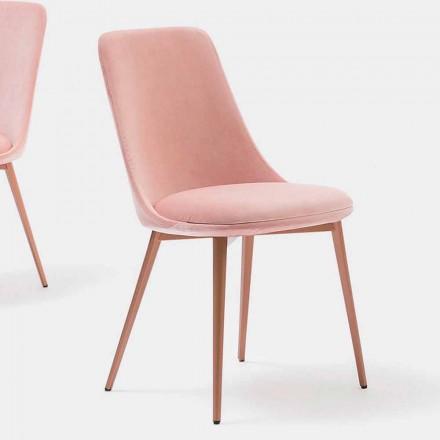 Designstoel in stof en metaal Made in Italy - Itala