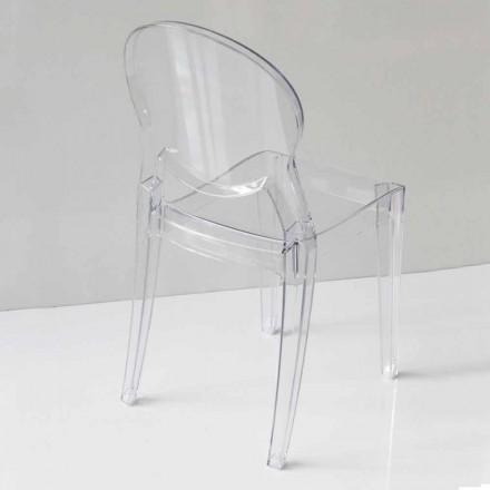 Moderne designstoel in polycarbonaat, in 2 kleuren - Dalila