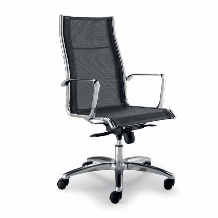 Design executive stoel geproduceerd in Italië in Agata-netwerk